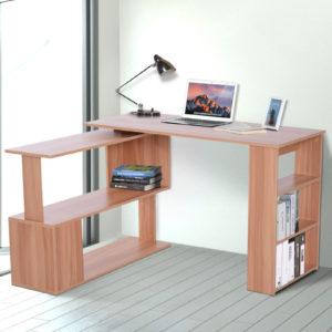 Homcom Rotating Desk Modern L Shaped Rotating