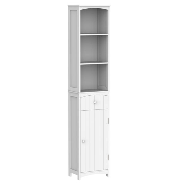 "Homcom Slim Bathroom Storage Cabinet 67"" Free"