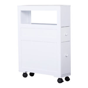 Homcom Slim Rolling Bathroom Storage Cabinet 26
