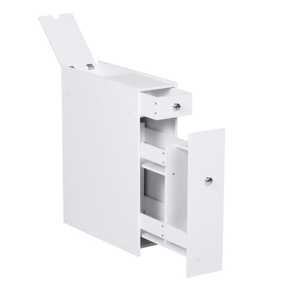 Homcom Small Bathroom Storage Slim Bathroom Storage