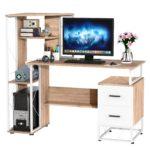 "Homcom Storage Computer Desk 52"" Multi Level"