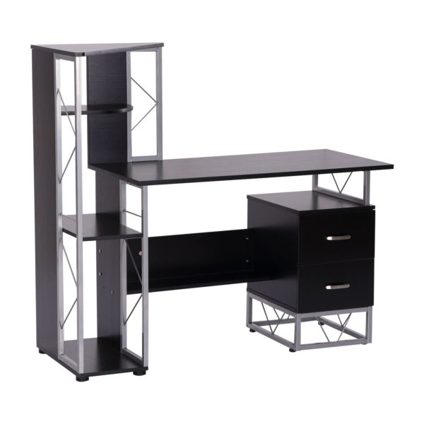 "Homcom Storage Computer Desk With Shelf 52"""