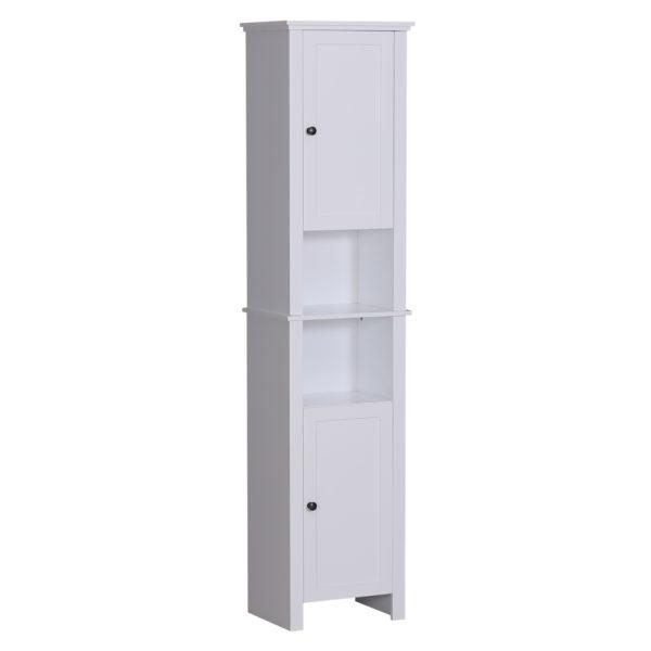 Homcom Tall Bathroom Cabinets Bathroom Linen Cabinet