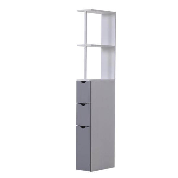 Homcom Tall Bathroom Cabinets Narrow Bathroom Cabinet