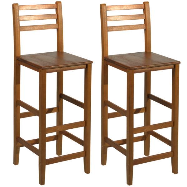 "Homcom Wooden Bar Stools 28"" Tall Classic"