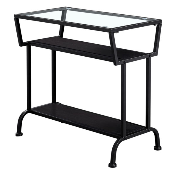 """Monarch 22"""" 3-Tier Contemporary Tempered Glass Top"""
