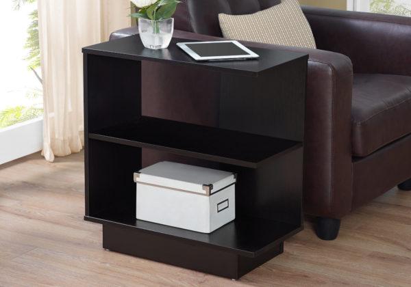 "Monarch 24"" Contemporary 3-Tier Wood Storage Side"