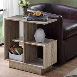 """Monarch 24"""" Modern Wood Grain Open Shelf"""