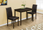 Monarch 3 Piece Casual Rectangle Table and