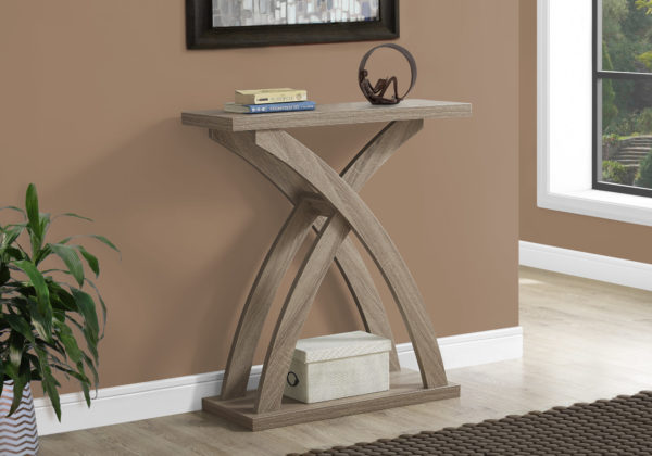 """Monarch 32"""" Contemporary Wood Grain-Look Curved Leg"""