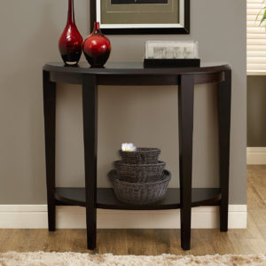 """Monarch 36"""" Transitional Style Half-Moon Shaped 2-Tier"""