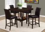 """Monarch 42"""" Square Wooden Counter Height Dining"""