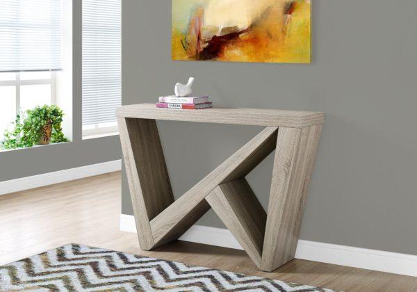 "Monarch 48"" Edgy Modern Wood Grain-Look Angular"