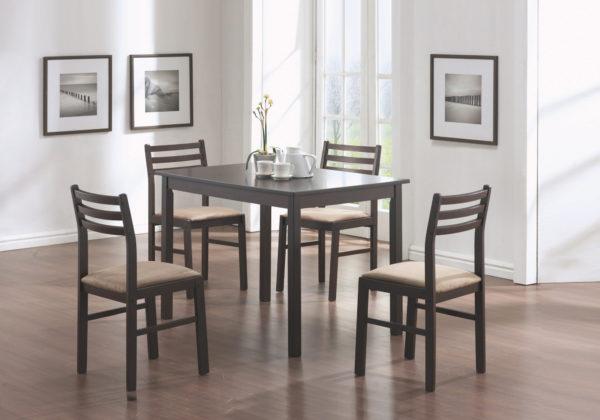 "Monarch 5 Piece 43"" Rectangular Wood Table"
