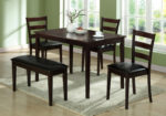 """Monarch 5 Piece 47"""" Wooden Table"""