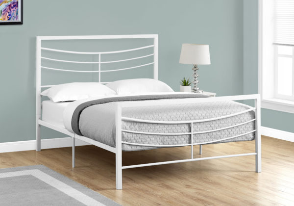 """Monarch 56"""" Contemporary Curved Horizontal Slat Metal"""