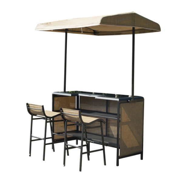 Outsunny 3 Piece Outdoor Canopy Bar Set