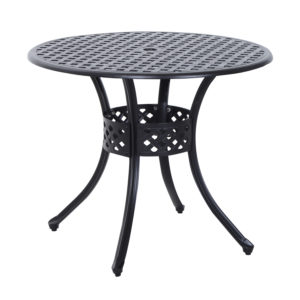 """Outsunny 33"""" Round Outdoor Dining Table Cast"""
