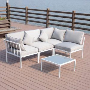 Outsunny 4 Piece Outdoor Furniture Patio Conversation
