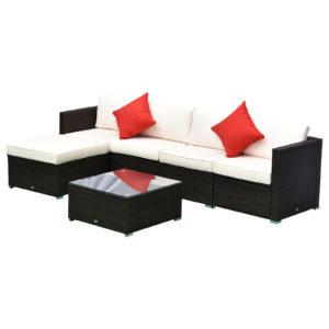 Outsunny 6-Piece Outdoor Patio Rattan Wicker Furniture