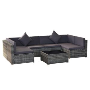 Outsunny 7-Piece Outdoor Patio Furniture Set with