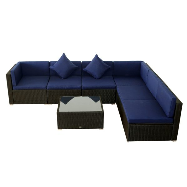 Outsunny 7 Piece Wicker Rattan Sofa Sectional
