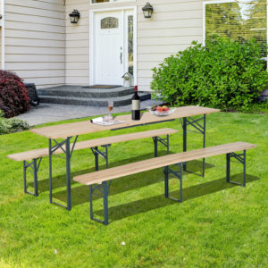 Outsunny 7' Wooden Outdoor Folding Patio Camping