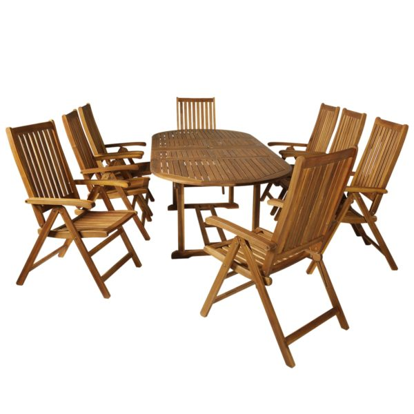 Outsunny 9 Pieces Acacia Wood Patio Dining