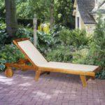 Outsunny Mesh Acacia Wood Adjustable Outdoor Sun