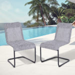 Outsunny Mesh Sling Texteline Fabric Bow Dining