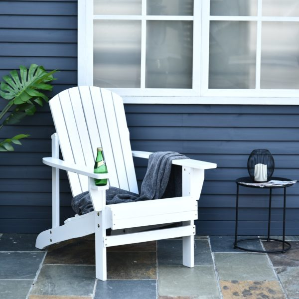 Outsunny Outdoor Classic Wooden Adirondack Deck Lounge