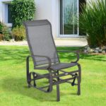 Outsunny Outdoor Fabric Gliding Chair - Brown