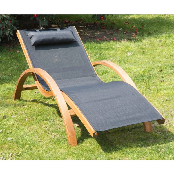 Outsunny Outdoor Mesh Lounger with Cushion -