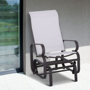 Outsunny Patio Sling Fabric Glider Swing Chair