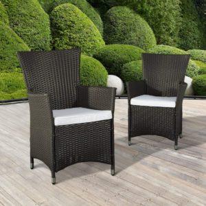 Outsunny Rattan Wicker Chair 2pc Rattan Wicker