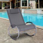 Outsunny Zero Gravity Rocking Chaise Lounge Sling