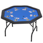 """Soozier 48"""" 8 Player Octagon Poker Table"""