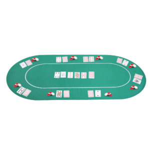 """Soozier 71""""x36"""" Rubber 8 Player Oval Non-Slip"""